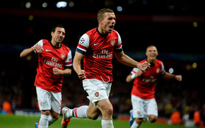 Fuball, Lukas Podolski, Emirates, Champions League, England, Arsenal