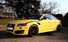 Audi, A4, giallo, berlina
