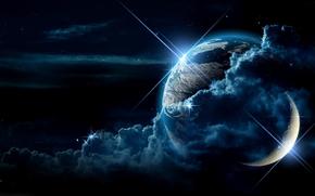 mi sueo warld, Tierra, luna