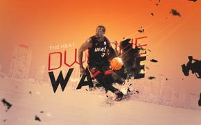 Dwyane Wade, Дуэйн Уэйд, Miami, Heat, Майами, Хит, Спорт, Баскетбол, NBA, Игрок