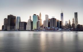 Dumbo, New York, NY, US, città, USA, Grattacieli, terrapieno, fiume
