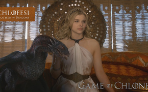 Chloe Moretz, Game of Thrones, blond of dragon