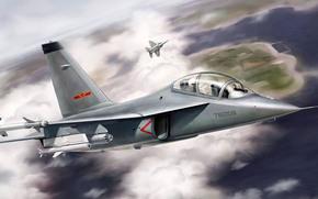 training and combat aircraft, drawing