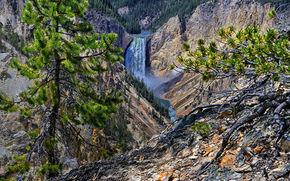 Dolna Falls, Yellowstone, USA