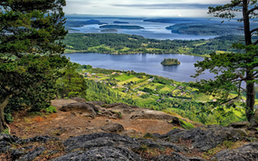 View Mt. Erie, Anacortes, Washington, USA