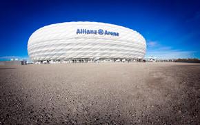 asphalt, STADIUM, Munich, football, white