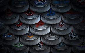 washer, Hockey, black, ice
