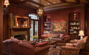 room, chair, ceiling, Pillow, chandelier, sofa, interior, design, lamp