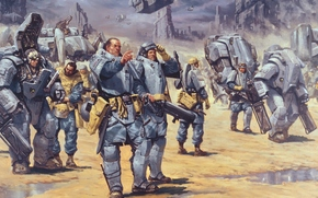 Starship troopers, mobile infantry, war