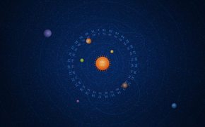январь, система, космос, календарь