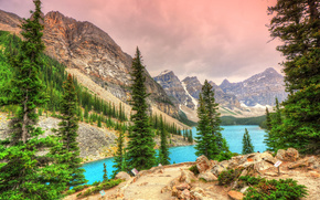 Lago Moraine, Parco Nazionale di Banff, Alberta, Canada