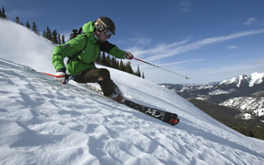 snow, skiing, Mountains, winter, Freeride, forest