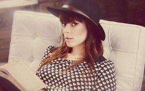 девушка, шляпка, певица