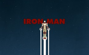 Star, sky, iron, man, flight