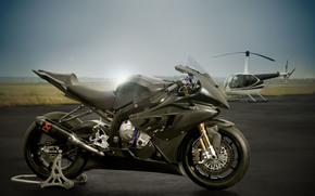 бмв, мотоцикл, Мотоциклы, вертолет, супербайк