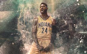 Paul George, Пол Джордж, Indiana, Pacers, Индиана, Пэйсерс, Спорт, Баскетбол, NBA, Игрок