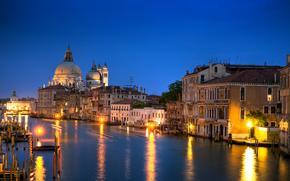 Венеция, италия, вечер