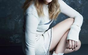 Chloe Moretz, actress, blond