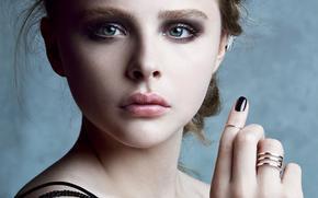 Chloe Moretz, actres, blond
