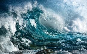 海, 波, 喷