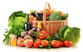 harvest, fruit, vegetables