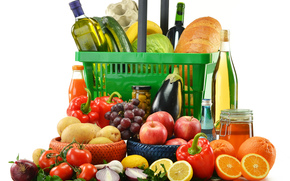 fruit, vegetables, wine, made dish