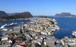 overview, Alesund, norway