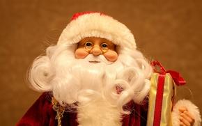 barba, Papai Noel, boneca, Ano Novo, óculos, Ano Novo, férias