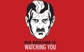 wallpaper, big brother is watching you, george orwell, 1984, utopia, minimal, обои, обои для рабочего стола, большой брат, большой брат следит за тобой, джордж оруэлл, минимализм