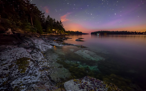Galiano Shore, Coast, Galiano Island, British Columbia, Canada