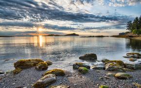 Galiano Sun Star, spiaggia, Isola di Galiano, British Columbia, Canada