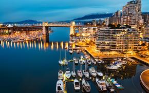 Blue Vancouver Morning, Granville Island, Vancouver, British Columbia, Canada