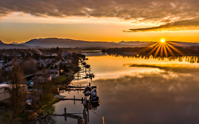 Pitt Meadows Riverfront, Orecchie d'Oro Ponte, Maple Ridge, British Columbia, Canada