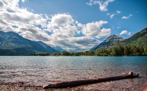 Waterton, Laghi, Nuvole, Parco nazionale dei laghi di Waterton, Alberta, Canada