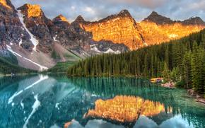 Well Known Lake, Morena, Jezioro, Banff National Park, Alberta, Kanada