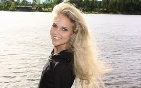 blondes, women, norwegian, faces, Emilie Marie Nereng