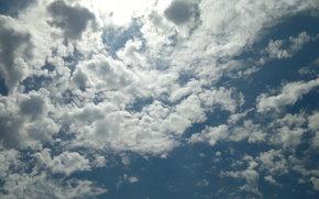 ciel, soleil, nuages, fond, bureau