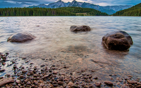 Two Jack Lakeside View, Two, Jack, Lakeside, Campground, Banff National Park, Alberta, Canada