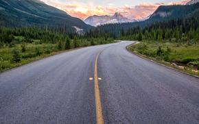 Yoho, Road, Yoho National Park, British Columbia, Canada
