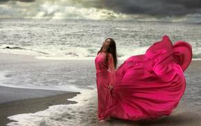 woman waited by the sea for her love to return, en el muelle de san blas, art