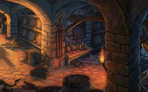 jp selwood, cellar, wine, cellar, kegs, pitcher, wine, torch, Rat, Bottle