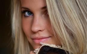Emilie Marie Nereng, white beauty, blond