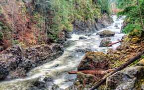 Raging River, Sooke Potholes Provincial Park, Sooke, British Columbia, Canada
