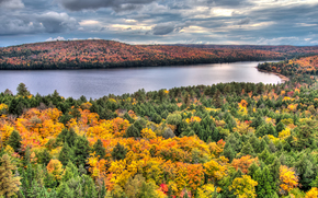 Rock Lake in Fall, Booth Rock Trail, Algonquin Park, Ontario, Canada