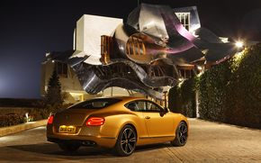 bentley, Continental, GT, V8, gold, 2011