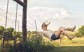 floating, levitation, girl