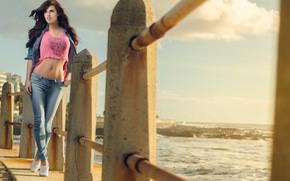 Vicky, girl, beach, shots