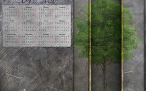 calendar, Calendar 2014, 2014, tree, iron