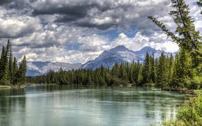 Vermillion Lakes, Banff National Park, Alberta, Canada, Озёра Вермилион, Банф, Альберта, Канада, горы, лес, озеро