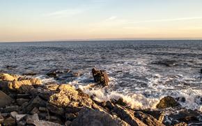 海, 岩, 波浪, 岸, 風景